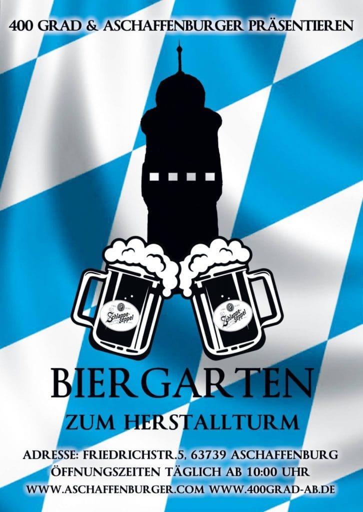 400 Grad Biergarten zum Herstallturm Aschaffenburg